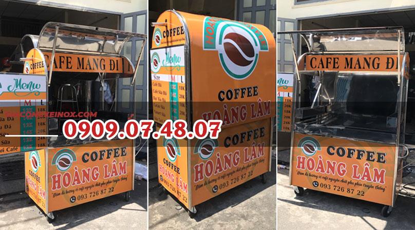 Xe cafe bằng inox