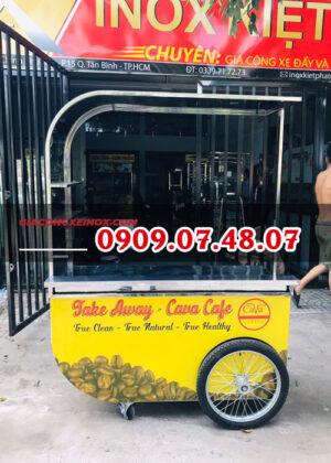 Xe bán cafe take away inox