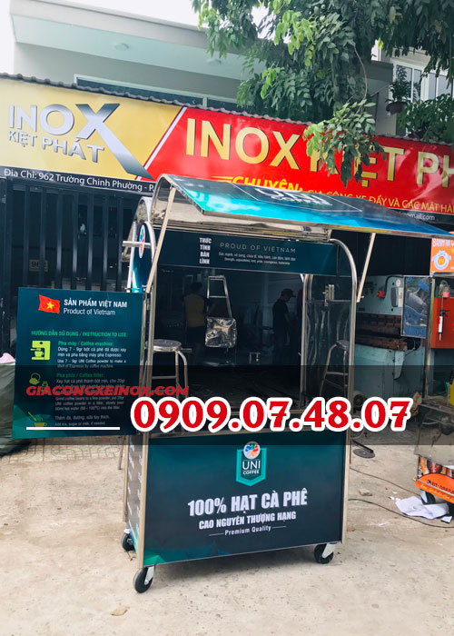 xe cafe take away inox đẹp