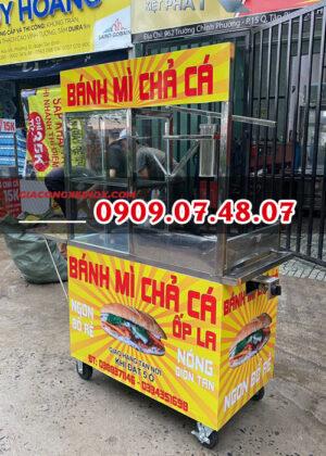Giá xe bánh mì chả cá