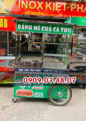 Xe bán bánh mì chả cá 1M2
