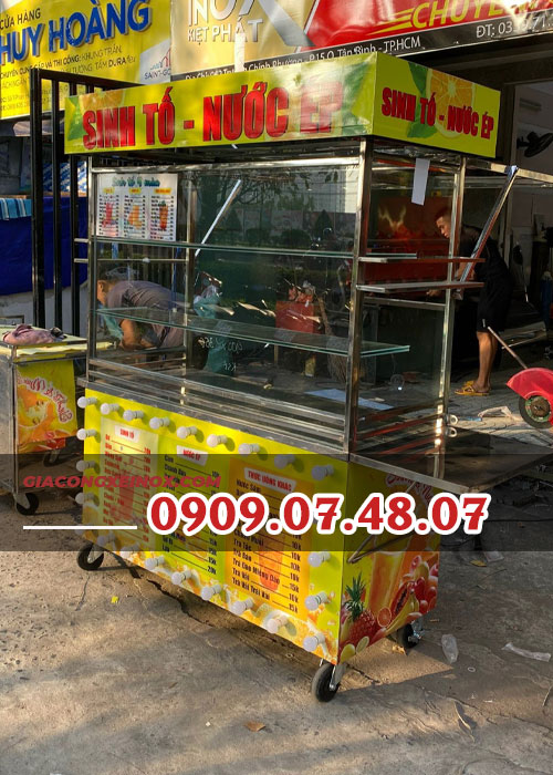 Xe bán nước ép trái cây 1m6